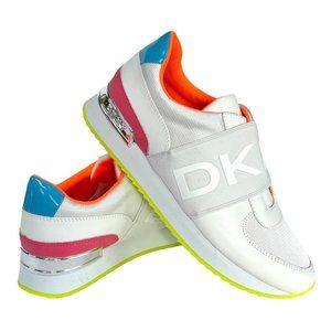 NEW DKNY Marli Logo Slip-On Wedge Snea 8